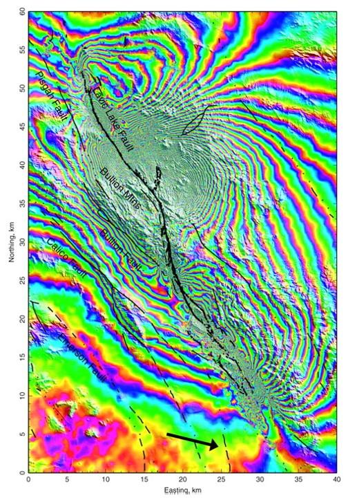 合成孔徑雷達觀測地表變形的技術 / 陳立學